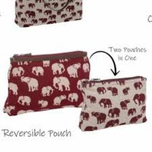 Thirty One Reversible Pouch - Safari Weave NWOT